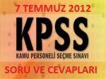 2012 KPSS Soruları(Genel Kültür)