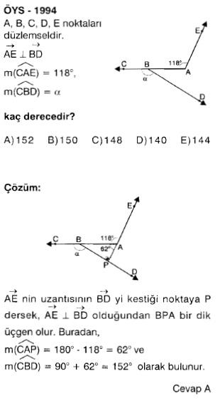 üçgen çikmiş sorular